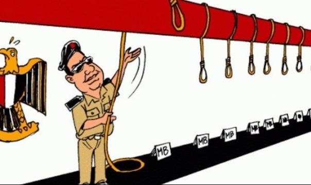 #مجزرة_الإعدامات: إعدام 15 مصريا وغليان ضد السيسي