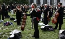 موسيقيون بريطانيون يتظاهرون احتجاجا على قيود الوقاية من كورونا
