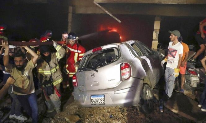 لبنان: أربعة قتلى جراء انفجار خزان مازوت في بيروت