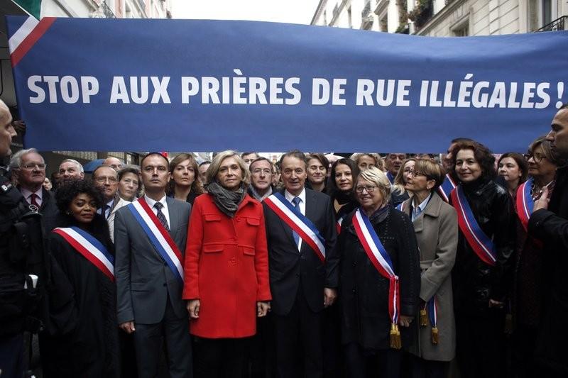 مظاهرة في فرنسا ضدّ الصلوات في الشوارع (أ ب)