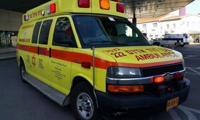 إصابة شاب سقط عليه جسم ثقيل قرب الناصرة