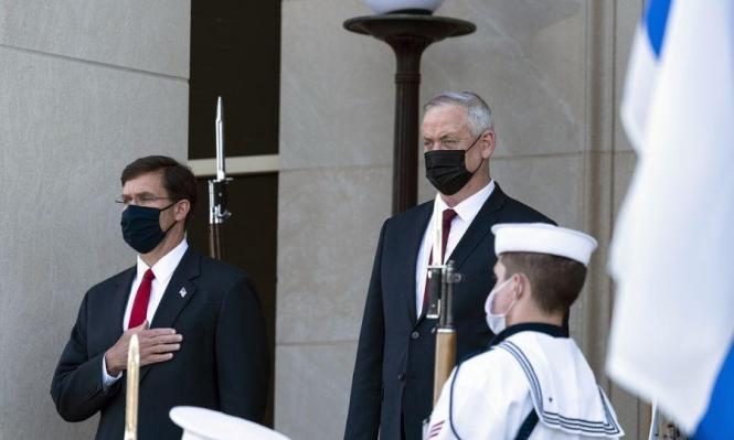 غانتس يبحث بواشنطن قضايا تتعلق بالأمن القومي الإسرائيلي