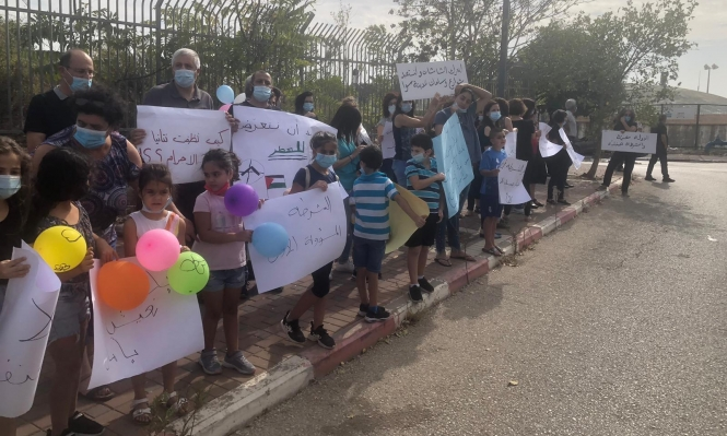 الناصرة: أهالي حي شنلر يتظاهرون رفضا للعنف
