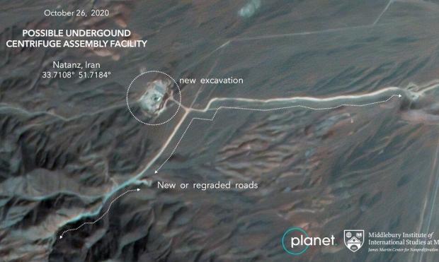صور أقمار اصطناعية: إيران تبني محطة بديلة لنطنز