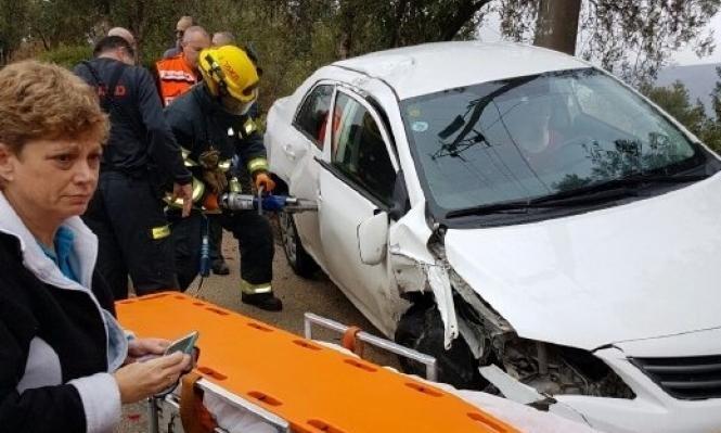 سخنين: مصابان في حادث طرق بين دراجتين ناريتين وسيارة