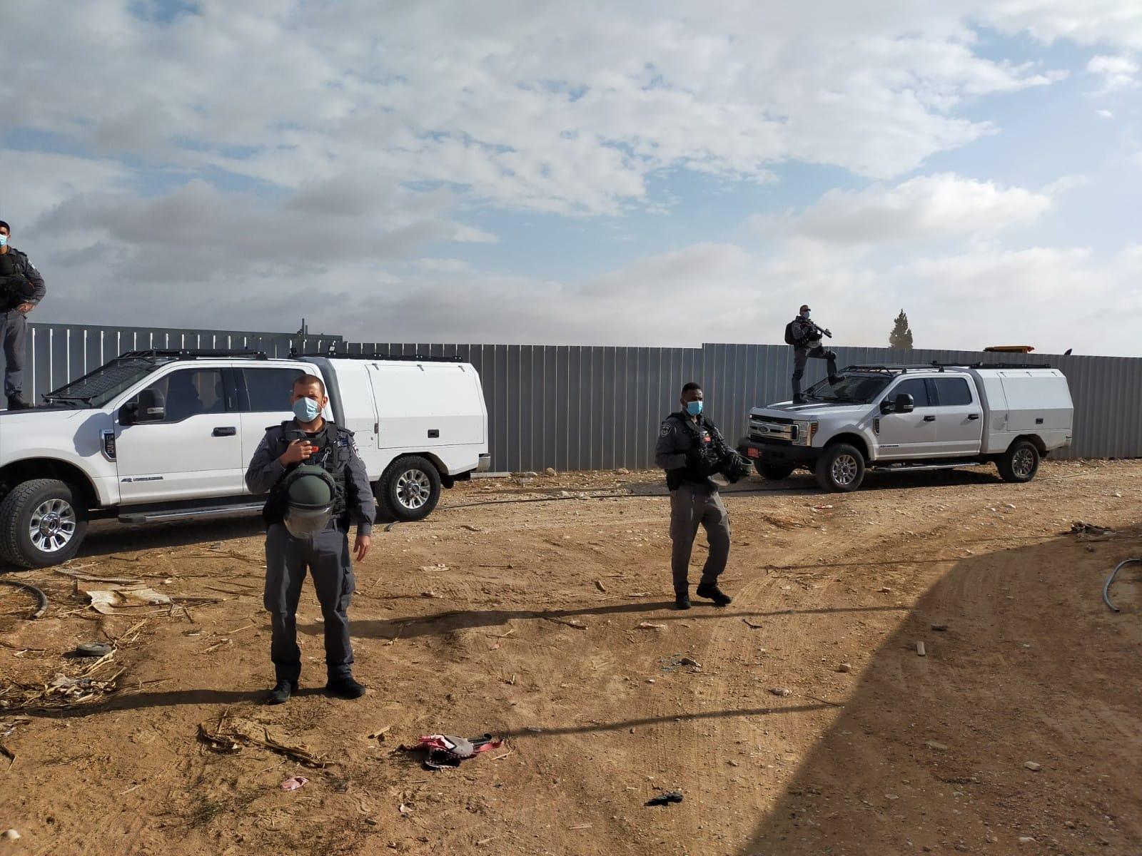 هدم منزل ومواجهات واعتقالات في بير الحمام بالنقب