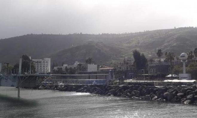 ارتفاع منسوب مياه بحيرة طبرية إثر هطول أمطار غزيرة