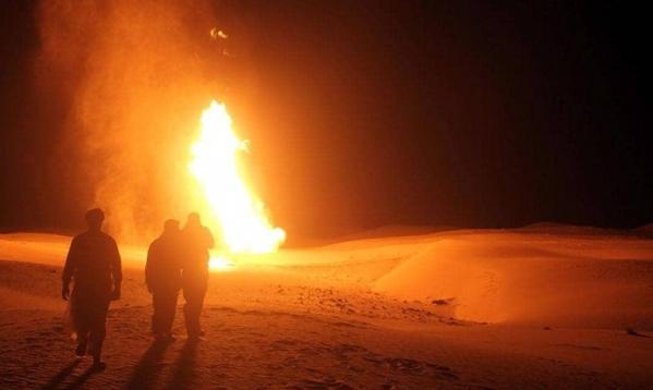 انفجار في خط أنابيب الغاز بين مصر وإسرائيل