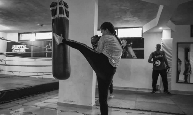 لأول مرة: مسابقة ملاكمة نسائية في غزة