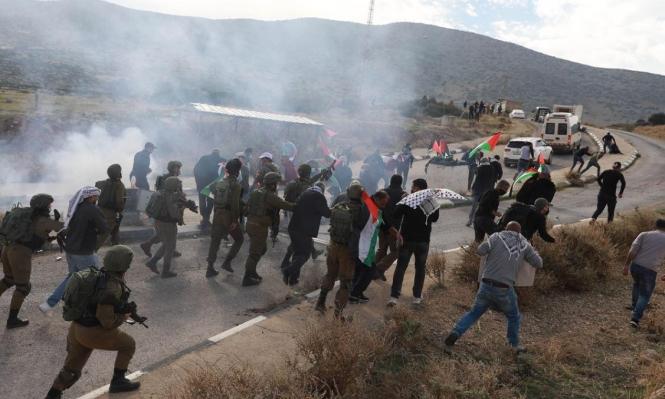 24 إصابة إثر تفريق الاحتلال مسيرة منددة بالاستيطان في الأغوار