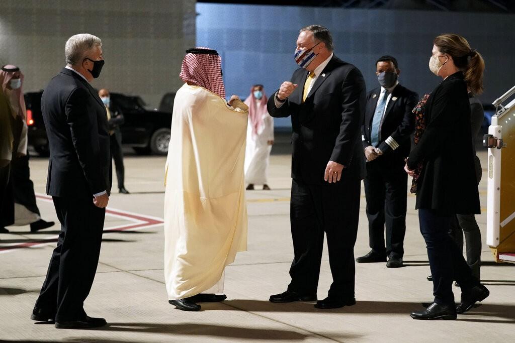 بومبيو في السعودية الأسبوع الماضي (أ ب)