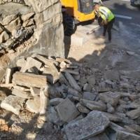 جرافات الاحتلال تهدم درجا يؤدي إلى باب الأسباط