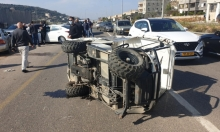 إصابة خطيرة بانقلاب مركبة في دير حنا