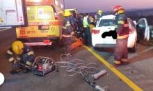 مصرع شاب وإصابات في حادثي طرق على شارع 6 وقرب كفر سميع