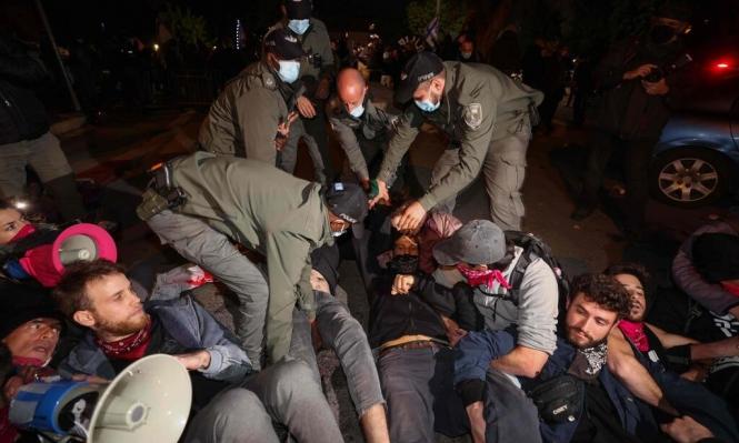 القدس: اعتقال أكثر من 20 متظاهرًا مناهضًا لنتنياهو