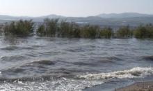 ارتفاع منسوب المياه في بحيرة طبرية في اليوم الأخير