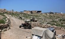 إخطارات بإزالة 12 خيمة سكنية في خربة زنوتا قرب الظاهرية