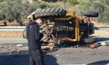 مصابان في حادث طرق قرب مجد الكروم