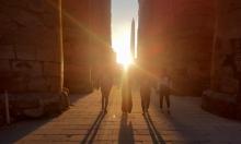 تعامد أشعة الشمس على معبدين فرعونيين بمصر