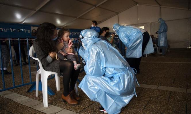 الصحة الإسرائيلية: 2821 إصابة جديدة بكورونا والفحوصات الإيجابية 4.1%