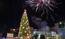 ليلة الميلاد: إطلاق ألعاب نارية في سماء الناصرة