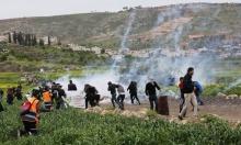 إصابة العشرات إثر قمع الاحتلال مسيرة منددة بالاستيطان قرب رام الله