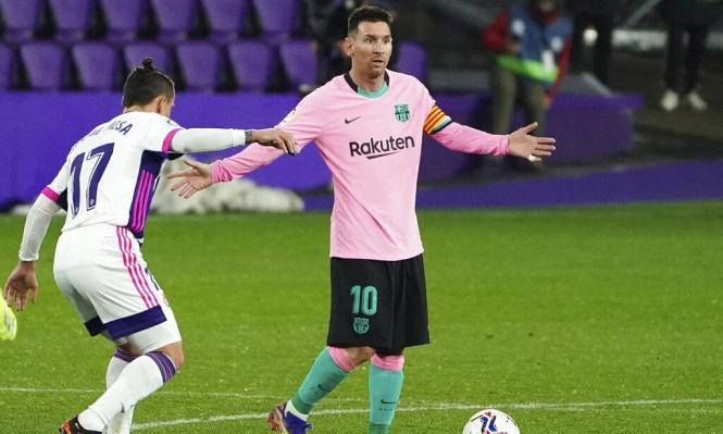 برشلونة يواجه إيبار بدون ميسي