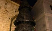 للمرة الثانية: إحراق شجرة الميلاد بكنيسة مار يوسف بسخنين