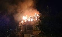 إصابة شخص في حريق داخل شقة سكنية بعكا