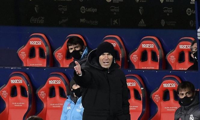زيدان بعد التعادل: لم تكن مباراة كرة قدم