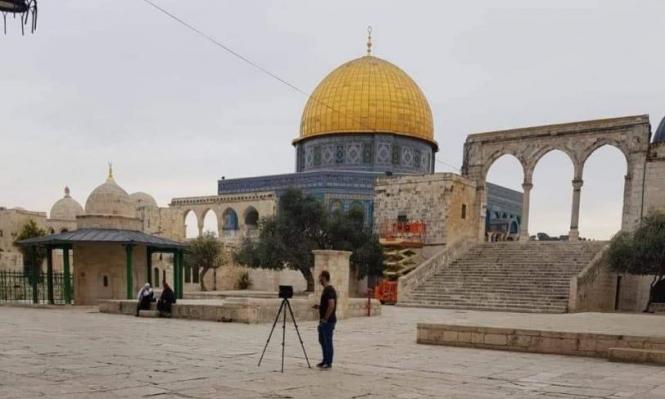 الاحتلال ينفذ أعمال مسح هندسية بالأقصى وقبة الصخرة