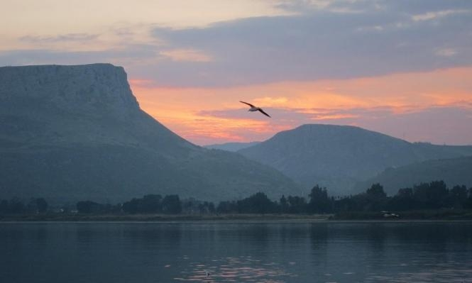 بحيرة طبرية: ارتفاع في منسوب المياه إثر هطول أمطار غزيرة