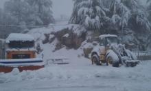 الثلوج تتراكم على جبل الشيخ