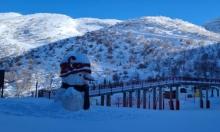 يوم مشمس في جبل الشيخ بعد تساقط الثلوج