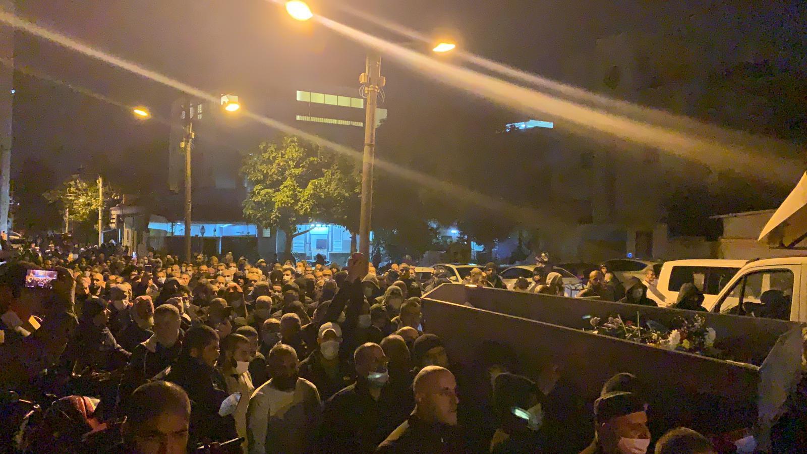 يافا تشيّع ضحية جريمة القتل محمد أبو نجم