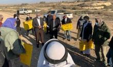 النقب: أهالي بئر هداج يتظاهرون ضد أوامر الهدم