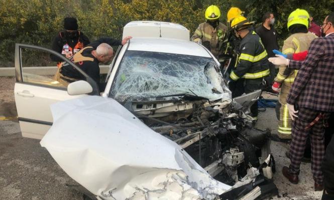 3 إصابات إحداها خطيرة في حادث طرق قرب جث