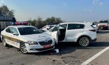 3 إصابات بين عناصر الشرطة بحادث طرق قرب باقة الغربية