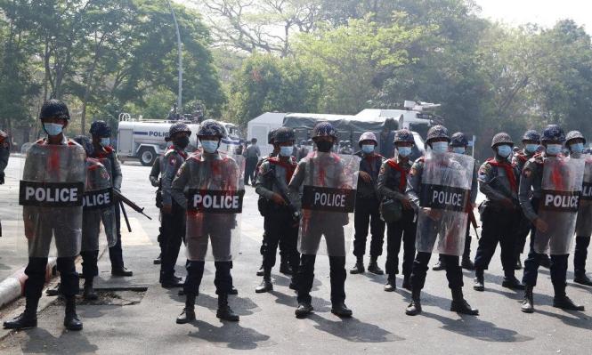 انقلاب ميانمار: الشرطة تواصل قمع المتظاهرين وتفرقهم بالرصاص المطاطي