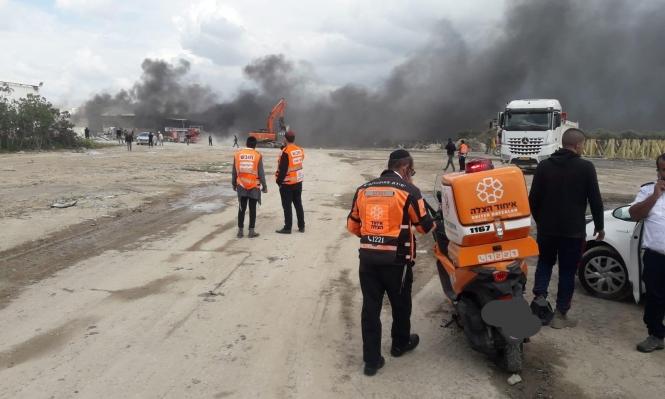 مصابان بحالة خطيرة إثر انفجار في مصنع قرب اللد