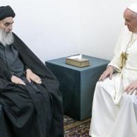 السيستاني يستقبل البابا فرنسيس في النجف