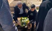 جلجولية: مصطفى حامد يغادر المستشفى ويزور ضريح صديقه محمد عدس