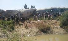32 قتيلا و90 مصابا في حادث تصادم قطارين بصعيد مصر