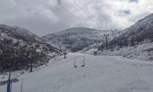 استمرار تساقط الثلوج: جبل الشيخ مفتوح أمام الزوار
