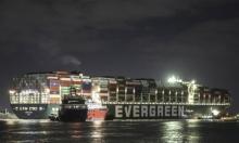 أزمة السويس: أعمال الشد بالقاطرات لتعويم السفينة الجانحة مستمرة