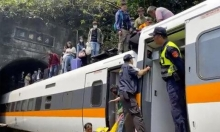 تايوان: مصرع 36 شخصا بخروج قطار عن السكة