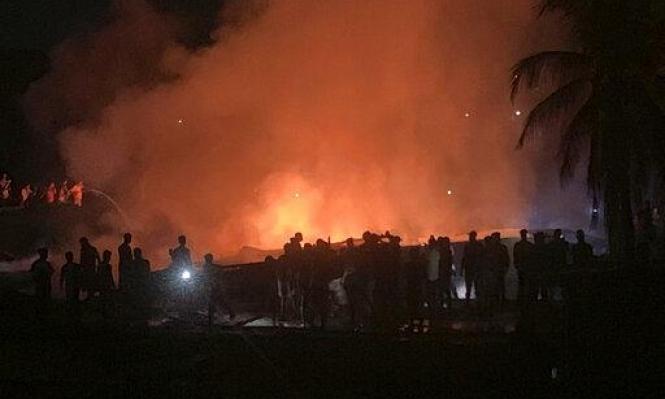 بنغلاديش: مصرع 3 أشخاص جراء حريق بسوق قرب مخيم للروهينغا