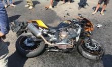 إصابة حرجة لسائق دراجة نارية بالنقب