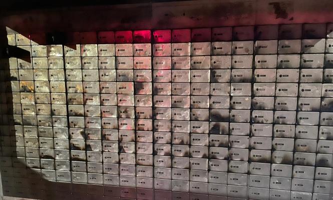 إحراق صناديق للبريد في قرية ميسر