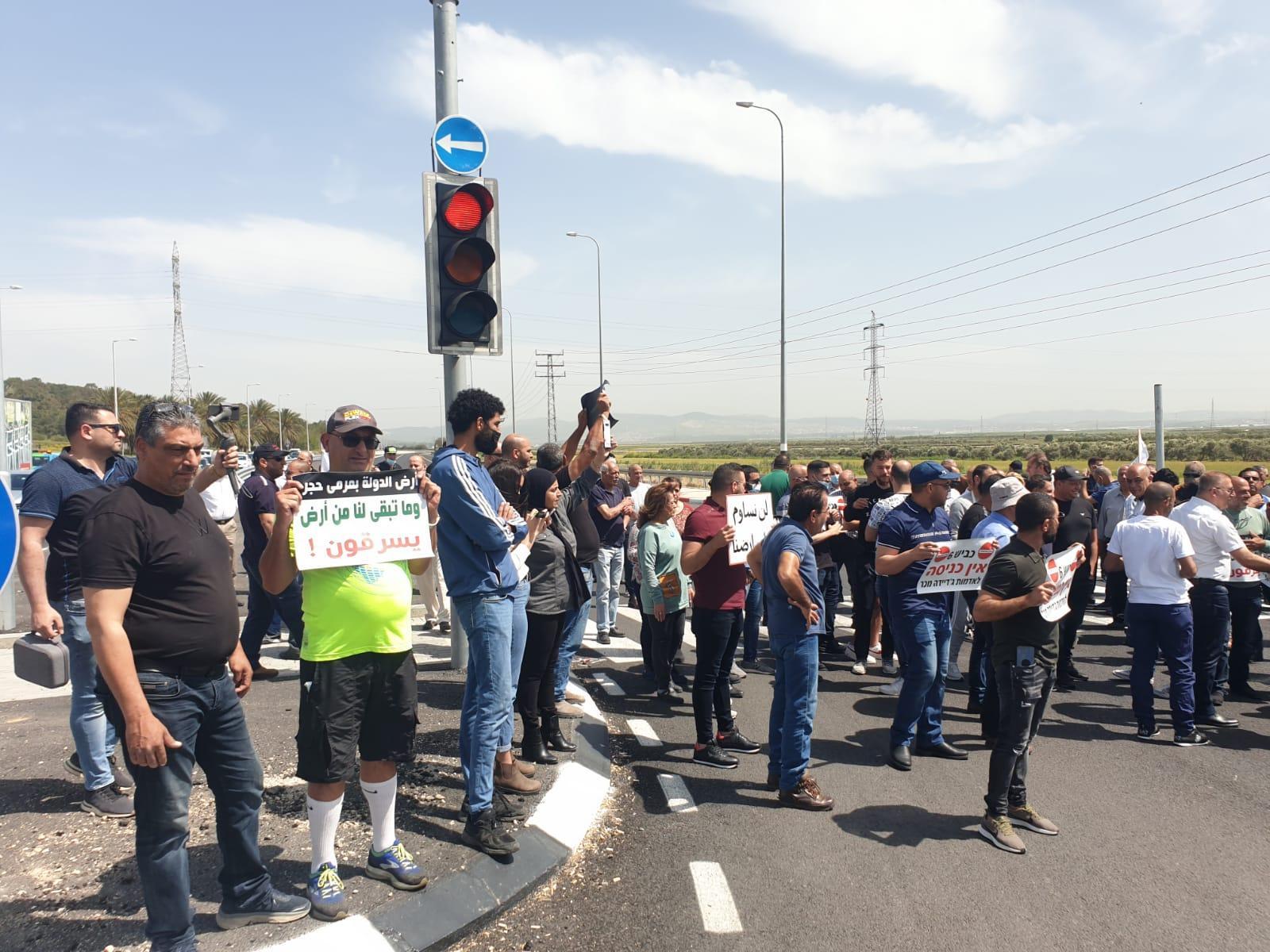 جديدة المكر: وقفة احتجاجية ضد مخطط شارع 6